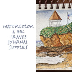 My Artist Loft Art Shop Watercolor and Ink Travel Journal Supplies for Class